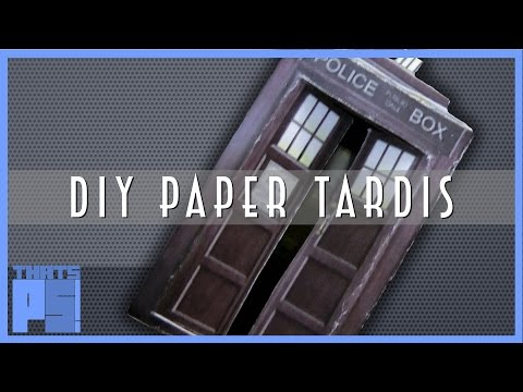 How to make a TARDIS out of paper - Dr Who
