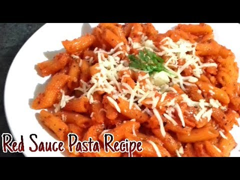Red Sauce Pasta Recipe | Pasta in Red Sauce | Red Sauce Pasta | Indian Style Tomato Pasta