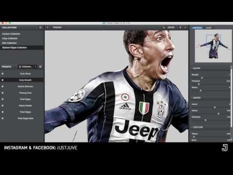 Speed art - Football Edit #5 | Di Maria-Juventus (Adobe Photoshop) [@just.juve]