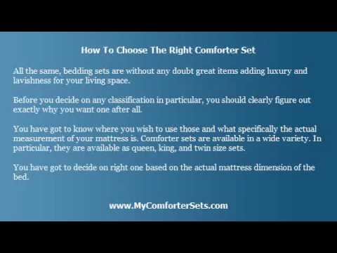 Choosing the Right Comforter Set