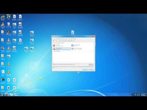 Change default programs in Windows 7