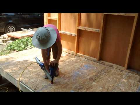 Kids Learn Carpentry   Nailing Subfloor