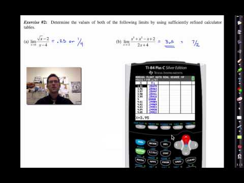 Math 4H.Unit #3.Lesson #2.Finding Limits Using Calculator Tables