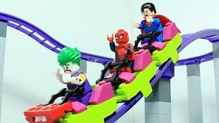 Lego Spider-man Brick Building Roller Coaster Superhero Animation