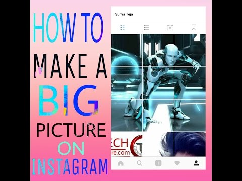 HOW TO MAKE BIG PICTURE FOR INSTAGRAM( giant square)-2017