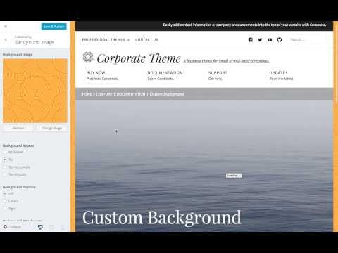 Corporate WordPress Theme: Setting a Custom Background Image (Step 6)