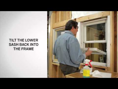 How to Tilt Andersen® 200 Series Tilt-Wash Double-Hung Windows for cleaning