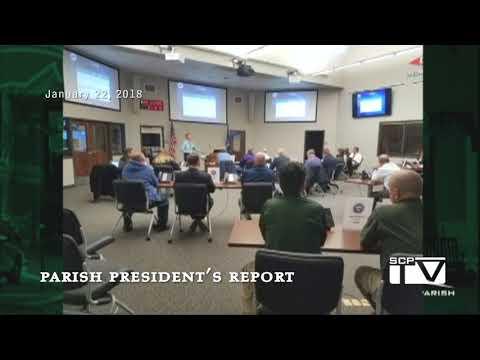 Parish President's Report for January 22, 2018