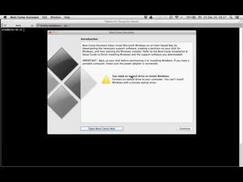 OSX Mountain Lion enable Windows USB install
