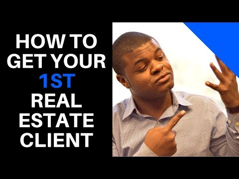 How to get your first client in real estate