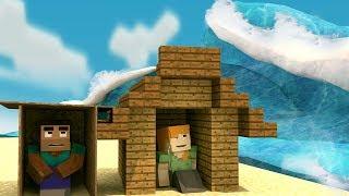 Minecraft   TSUNAMI BASE CHALLENGE - Tsunami Destroys City! (Base vs Tsunami)