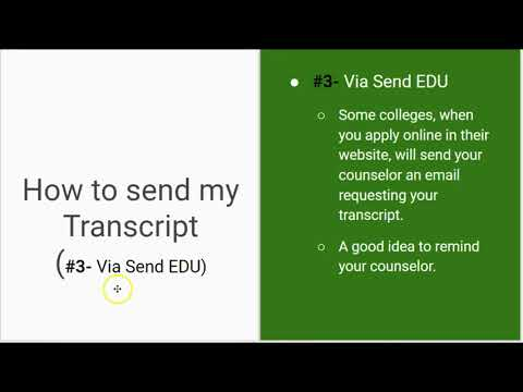 How to send Transcripts