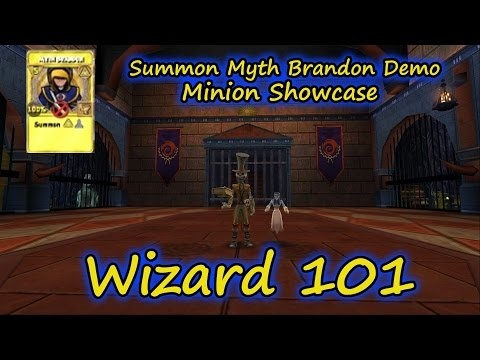 Wizard101: New Test Realm Brandon Myth Minion Spell Youtube Demo