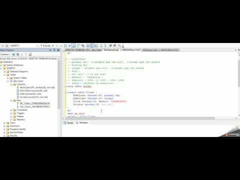 6   SQL server Contraint Default Unique Not null