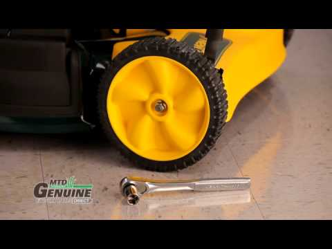 Walk Behind Lawn Mower Wheel Replacement Instructions