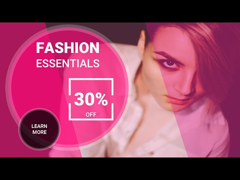 How to Create SUPER CREATIVE FASHION BANNER: Microsoft PowerPoint 2016 Tutorial