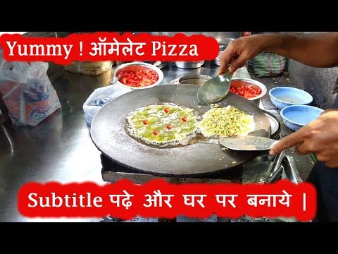 Yummy ! Omelette Pizza Recipe  -  EGG DISH RECIPE | Indian Street Food