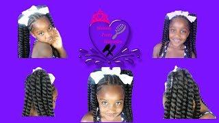Melanie|natural Hair|braids|crochet|easy Hairstyles|back To School Hairstyles|cornrows