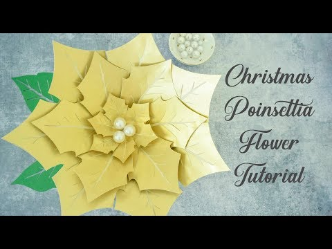 Christmas Poinsettia Paper Flower Tutorial - Easy Step by Step