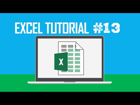 Excel Tutorial #13:  Expanding or Collapsing Ribbon Commands & Tabs (Ctrl + Shift + F1)