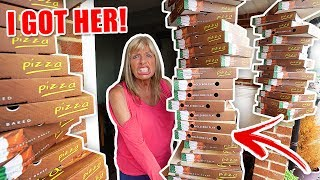 GIANT PIZZA DELIVERY PRANK ON MOM
