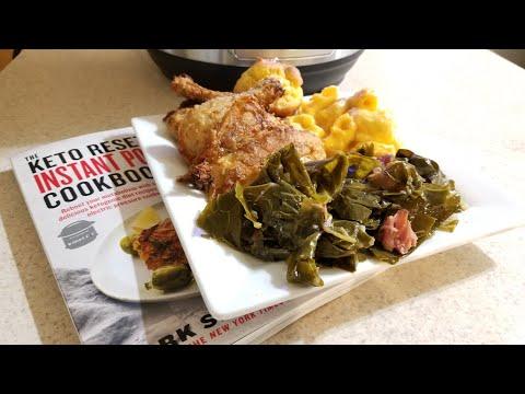 Instant Pot Ultra Keto Braised Collard Greens & Ham 6qt pressure cooker