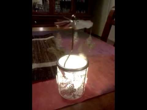 Butterfly votive candle holder.
