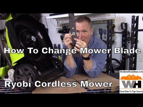 #RyobiOutdoors How To Change Ryobi 40V Battery Mower Blade | Weekend Handyman