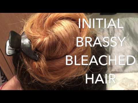 MANIC PANIC TONING BRASSY BLEACHED HAIR!!