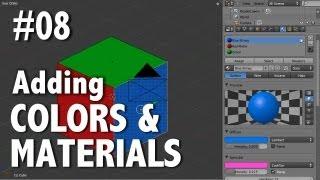 Blender 2.6 Tutorial 08 - Adding Color & Material(s)