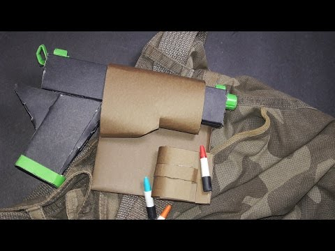 |DIY| How To Make a Paper Gun Holster-Easy -Tutorial-By Dr. Origami