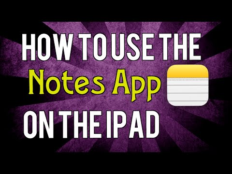 Make notes using the Notes app on your iPad