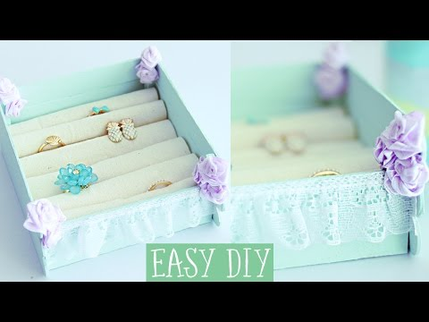 Jewelry box with popsicle sticks EASY DIY Projects!