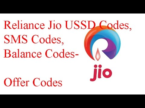 Reliance Jio USSD Codes,SMS Codes,Balance Codes Offer Codes
