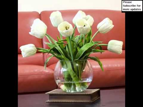 White Tulips In Vase | Picture Set Of Beautiful Folwers