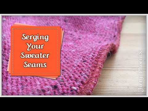 Serging Sweater Seams :: by Babs at Fiery Phoenix