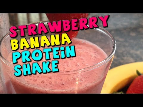 Strawberry Banana PROTEIN Shake Recipe (40g Protein)