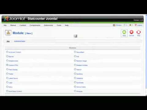 Install StatCounter on Joomla website