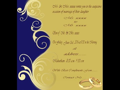 How to create Wedding Invitation Card in Photoshop ( with ESubs )