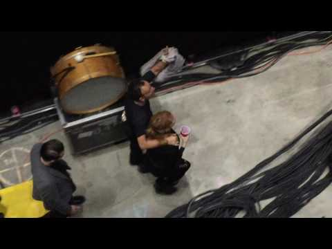 Bruce passing by backstage