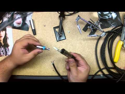How to Solder XLR Connections to make a new XLR cable