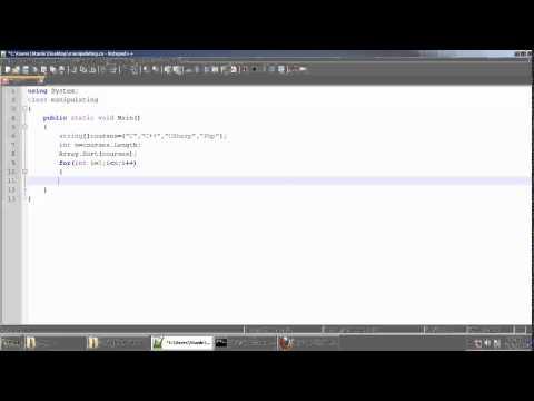 Manipulating string Array In C#.Net Tamil