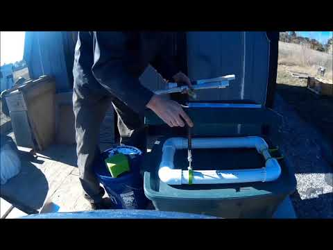 Battery-Powered Mini Gold Dredge Part 2 PVC Flotation and Sluice