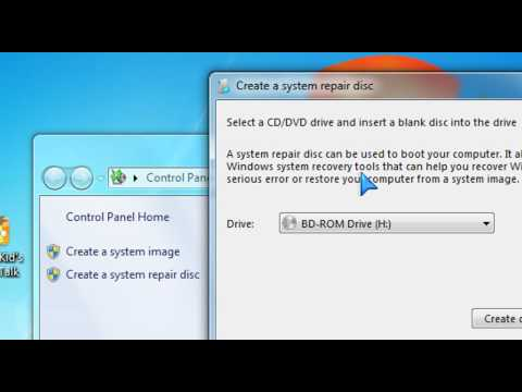 ✅Windows 7 Tutorial - How to create a backup system image in Windows 7