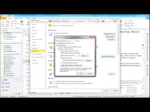 Enabling and Configuring Auto Archive in Outlook 2010