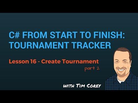 C# App Start To Finish Lesson 16 - Create Tournament Form Part 2