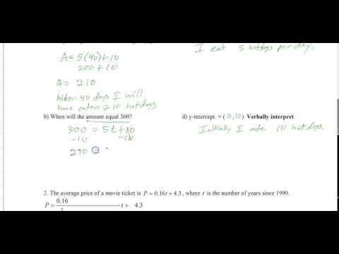 Linear applications Part I   Slope intercept form