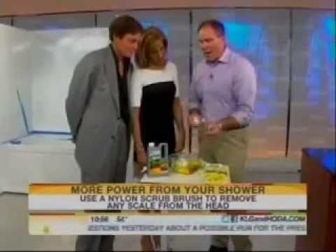 CLR showerhead cleaning demonstration on Today Show