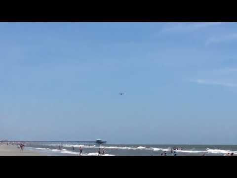 C-17 flyover in folly beach South Carolina