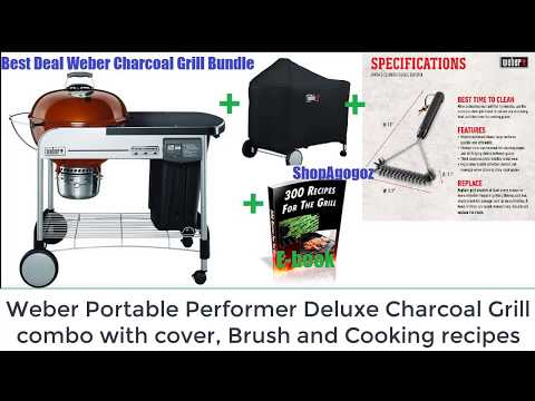how to Use weber 15501001 outdoor performer deluxe portable charcoal smoking grill